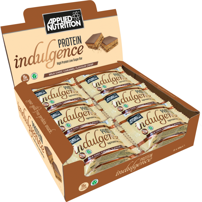 APPLIED NUTRITION PROTEIN INDULGENCE BARS 12 x 50G