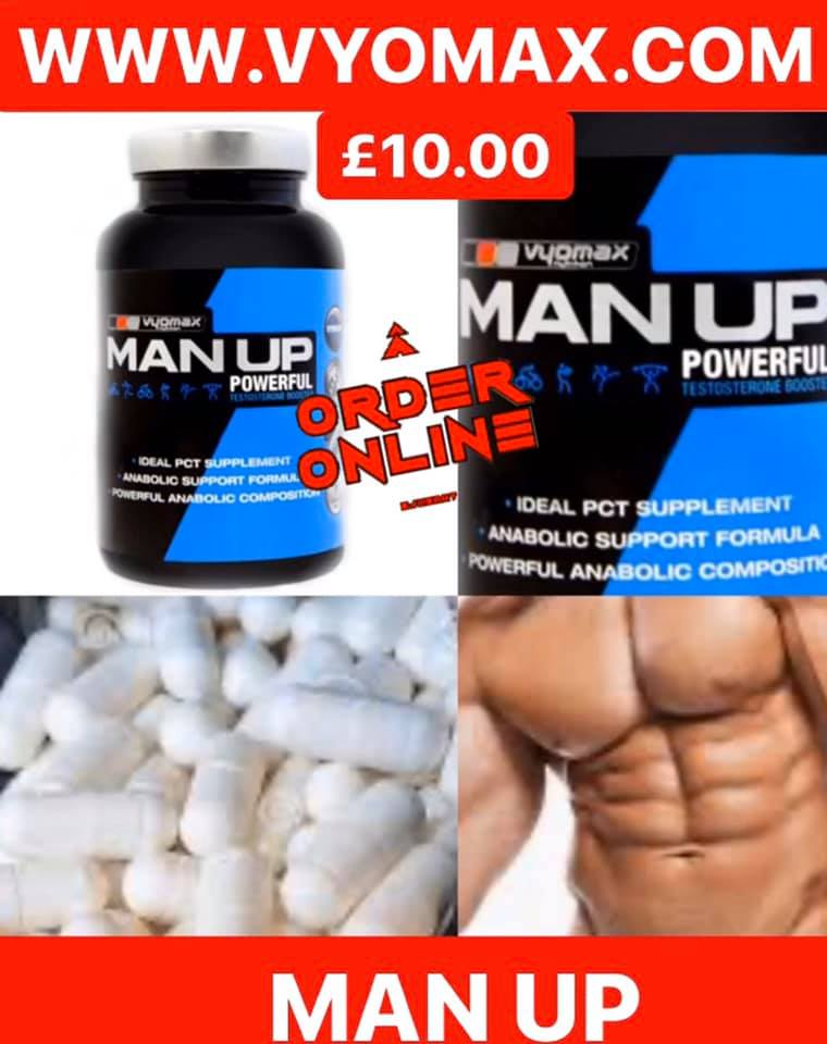 VYOMAX® MAN UP  TESTOSTERONE BOOSTER 60 CAPSULES