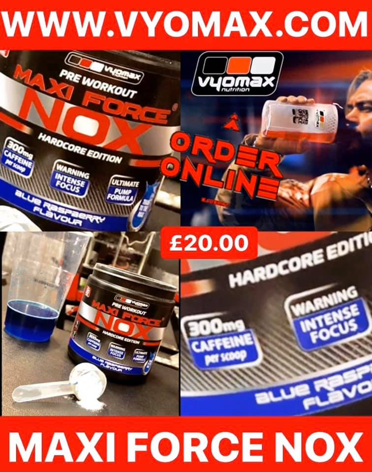 VYOMAX® MAXI FORCE® NOX HARDCORE PRE-WORKOUT 210G